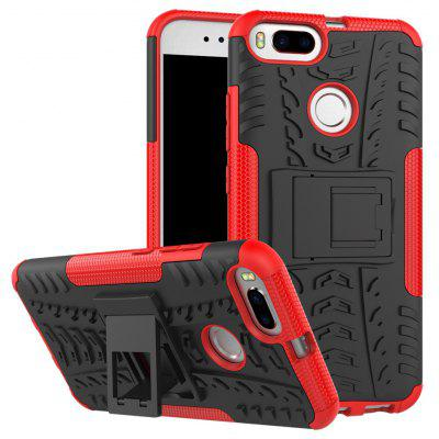 Buy RED TPU Bumper PC Cover Kickstand Case for Xiaomi Mi 5X for $3.91 in GearBest store