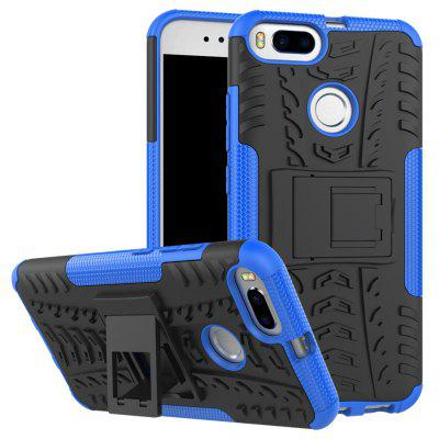 Buy BLUE TPU Bumper PC Cover Kickstand Case for Xiaomi Mi 5X for $3.91 in GearBest store