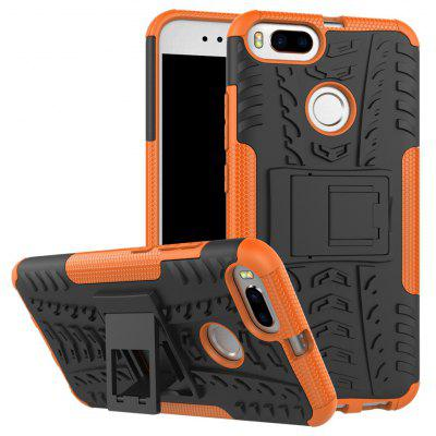 Buy ORANGE TPU Bumper PC Cover Kickstand Case for Xiaomi Mi 5X for $3.91 in GearBest store