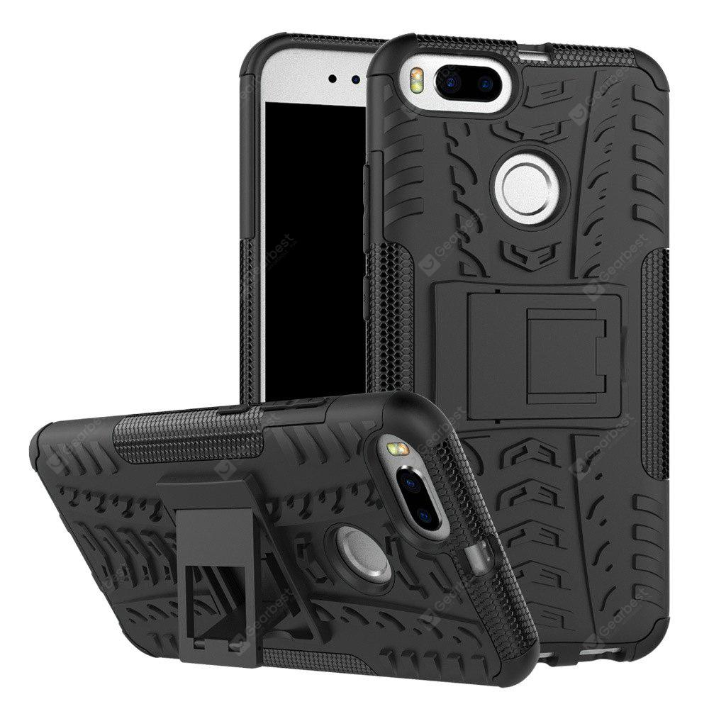 BLACK TPU Bumper PC Cover Kickstand Case for Xiaomi Mi 5X