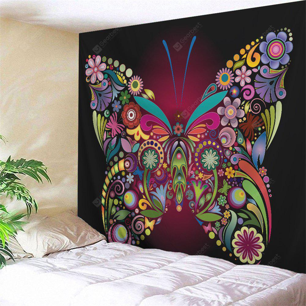 COLORFUL Colorful Butterfly Printed Wall Art Tapestry