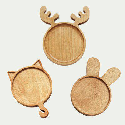 Lovely Rabbit Style Wooden Plate Creative Snack Dish 1PCDinnerware<br>Lovely Rabbit Style Wooden Plate Creative Snack Dish 1PC<br><br>Material: Wooden<br>Package Contents: 1 x Plate<br>Package size (L x W x H): 25.00 x 18.00 x 5.00 cm / 9.84 x 7.09 x 1.97 inches<br>Package weight: 0.2500 kg<br>Product size (L x W x H): 21.00 x 14.00 x 2.00 cm / 8.27 x 5.51 x 0.79 inches<br>Product weight: 0.2000 kg<br>Type: Dinnerware