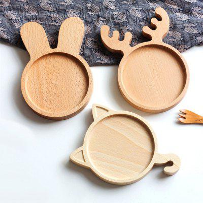 Belle Rabbit Style plaque en bois Creative Snack Dish 1PC