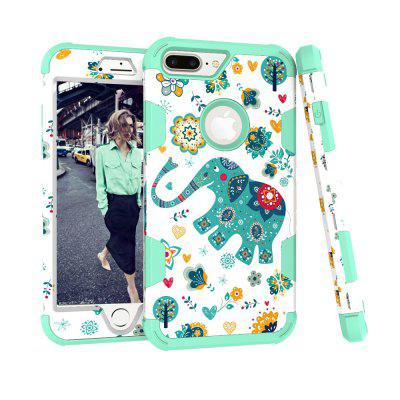 Cartoon Elephant Hard PC + Inside Silicone Shell for iPhone 8 PlusiPhone Cases/Covers<br>Cartoon Elephant Hard PC + Inside Silicone Shell for iPhone 8 Plus<br><br>Compatible for Apple: iPhone 8 Plus<br>Features: Back Cover, Button Protector, Shatter-Resistant Case<br>Material: PC, Silicone<br>Package Contents: 1 x Protective Shell Cover<br>Package size (L x W x H): 16.20 x 8.20 x 1.50 cm / 6.38 x 3.23 x 0.59 inches<br>Package weight: 0.0750 kg<br>Product size (L x W x H): 16.00 x 8.00 x 1.40 cm / 6.3 x 3.15 x 0.55 inches<br>Product weight: 0.0730 kg<br>Style: Animal, Funny, Cartoon