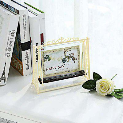 Swing Shape Classic Plastic Decorative Home Photo Frame