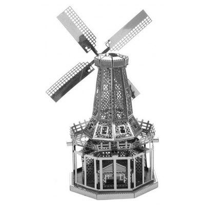 Holland Windmill Style 3D Metal Puzzle Modèle DIY Toy