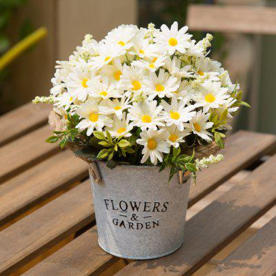 Artificial Flowers with Vase Home Decoration
