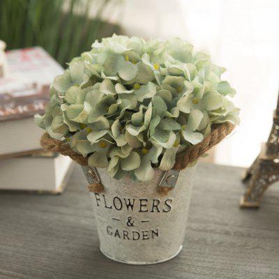 Home Decoration Artificial Flower with Metal Vase