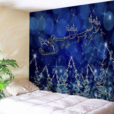 Christmas Sled Tree Print Wall Art Tapestry