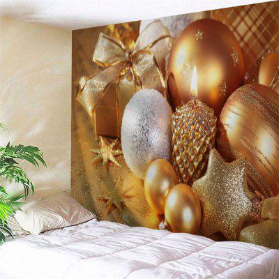 Christmas Candle Ornaments Wall Decor Tapestry