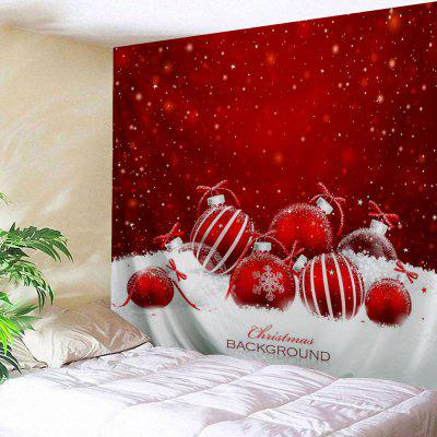 Christmas Ornaments Print Wall Art Tapestry