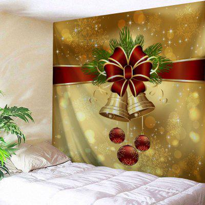 Christmas Bell Ornaments Print Wall Tapestry