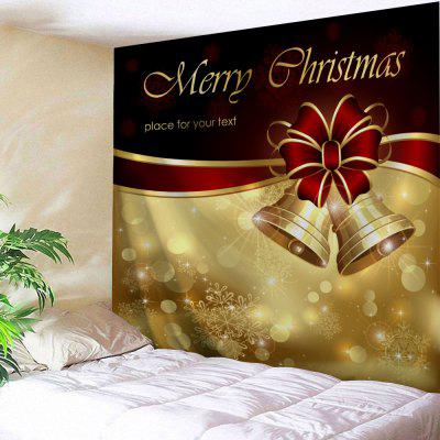Merry Christmas Bell Wall Decor Tapestry