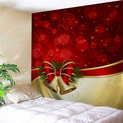 Christmas Bowknot Bell Wall Hanging Tapestry