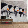 Wall Art Christmas Snowman Print Tapestry - WHITE