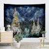 Wall Hanging Christmas Cedar Print Tapestry - COLORMIX