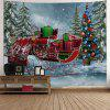 Christmas Sled Pine Forest Wall Tapestry - COLORMIX