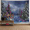 Christmas Tree Gift Box Print Wall Tapestry - COLORMIX