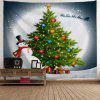 Christmas Tree Snowman Moon Wall Tapestry - COLORMIX