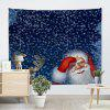 Christmas Elk Santa Claus Wall Decor Tapestry - BLUE