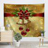 Christmas Bell Ornaments Print Wall Tapestry - GOLDEN