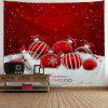 Christmas Ornaments Print Wall Art Tapestry - RED