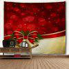Christmas Bowknot Bell Wall Hanging Tapestry - RED
