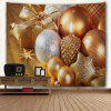 Christmas Candle Ornaments Wall Decor Tapestry - GOLDEN