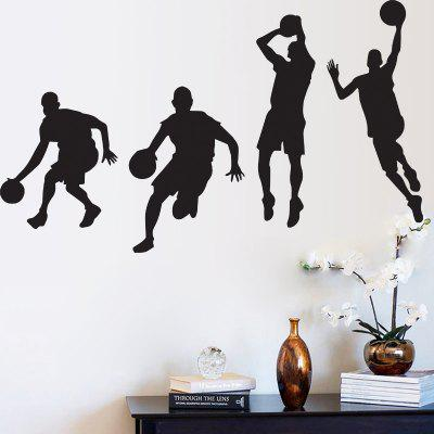 Basketball Player Pattern Design Wall StickerWall Stickers<br>Basketball Player Pattern Design Wall Sticker<br><br>Function: Decorative Wall Sticker<br>Material: Self-adhesive Plastic, Vinyl(PVC)<br>Package Contents: 1 x Sticker<br>Package size (L x W x H): 45.00 x 7.00 x 7.00 cm / 17.72 x 2.76 x 2.76 inches<br>Package weight: 0.1500 kg<br>Product weight: 0.1200 kg<br>Quantity: 1<br>Subjects: Sports<br>Suitable Space: Bedroom,Boys Room,Pathway<br>Type: Plane Wall Sticker