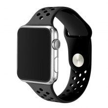 "Breathable Silicone Watchband for 38mm <span class=""es_hl_color"">Apple</span> Watch"