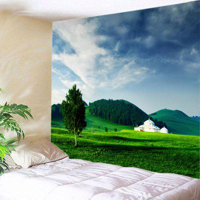 Buy GREEN Grasslands Print Tapestry Wall Hanging Art Decor for $15.00 in GearBest store