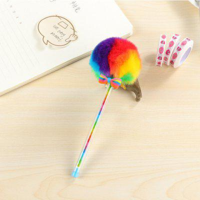 Colorful Plush Ball Gel Pen - 3PCS