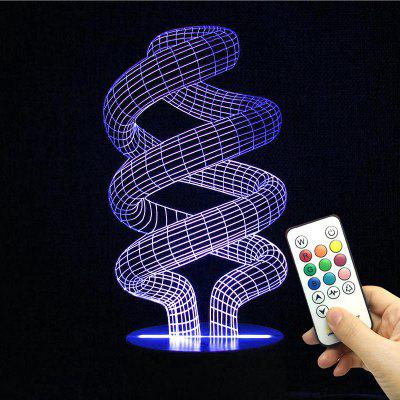 Winding Shape Remote Control Color Change Night Light