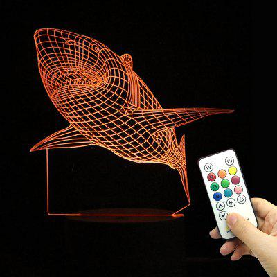 Shark Color Change Lamp With Remote Control