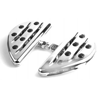 Pair of CNC Deep Cut Motorcycle Floorboards Pedals for Harley
