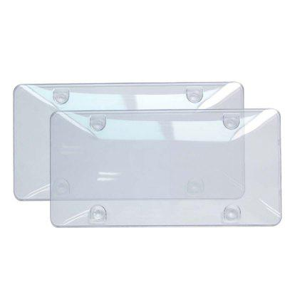 IZTOSS Universal Zone Tech Clear License Plate Shields 2pcs