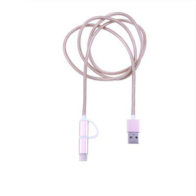 Universal Type-C + Micro Charging USB Cable