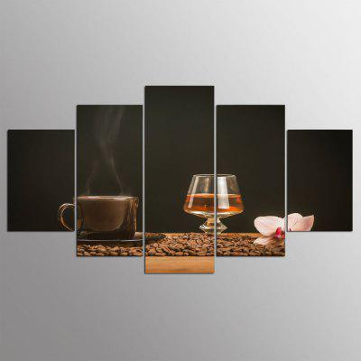 Buy COLORMIX YSDAFEN Modern Prints Coffee Beans Hanging Wall Art 5PCS for $55.37 in GearBest store