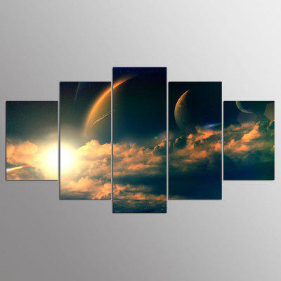Buy COLORMIX YSDAFEN Canvas Sunrise Prints Hanging Wall Art 5PCS for $55.37 in GearBest store