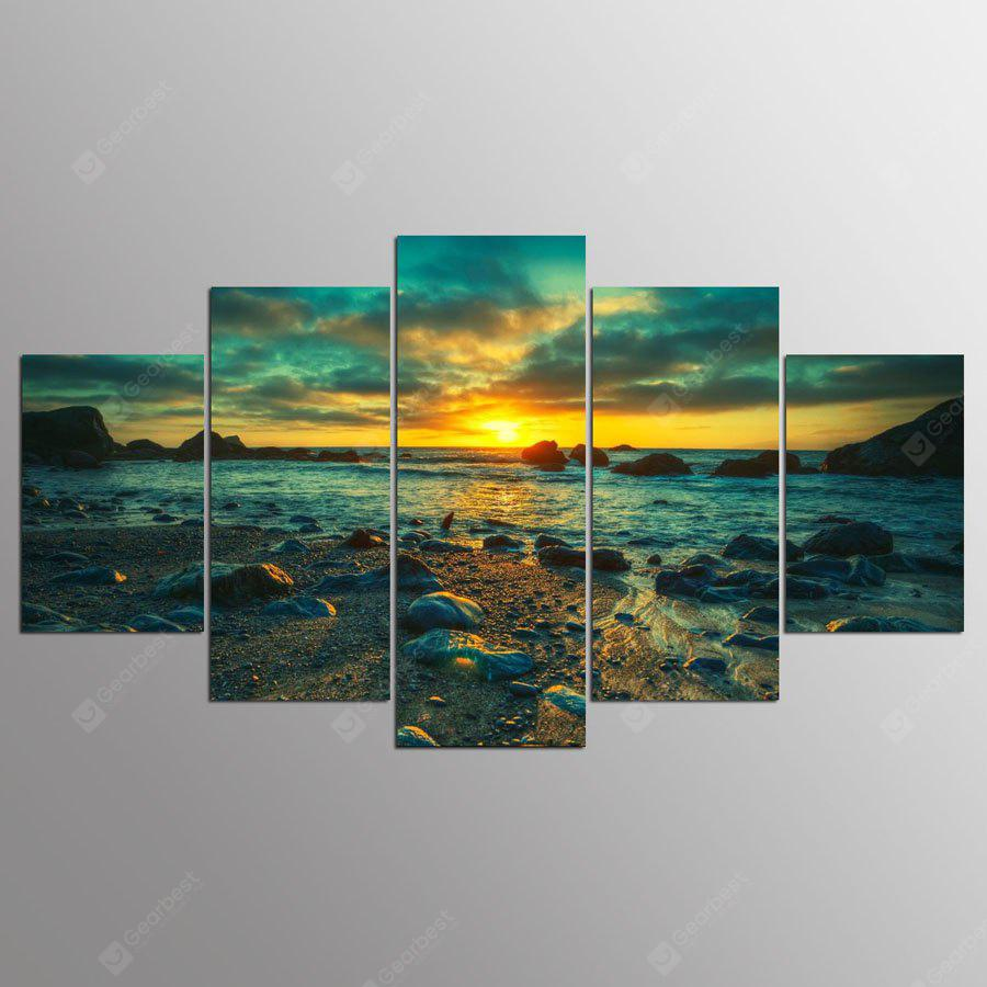 YSDAFEN Seascape Prints Canvas Hanging Wall Art 5PCS