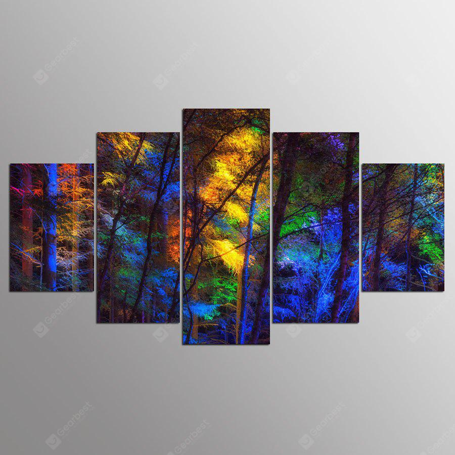 YSDAFEN Canvas Forest Prints Hanging Wall Art 5PCS