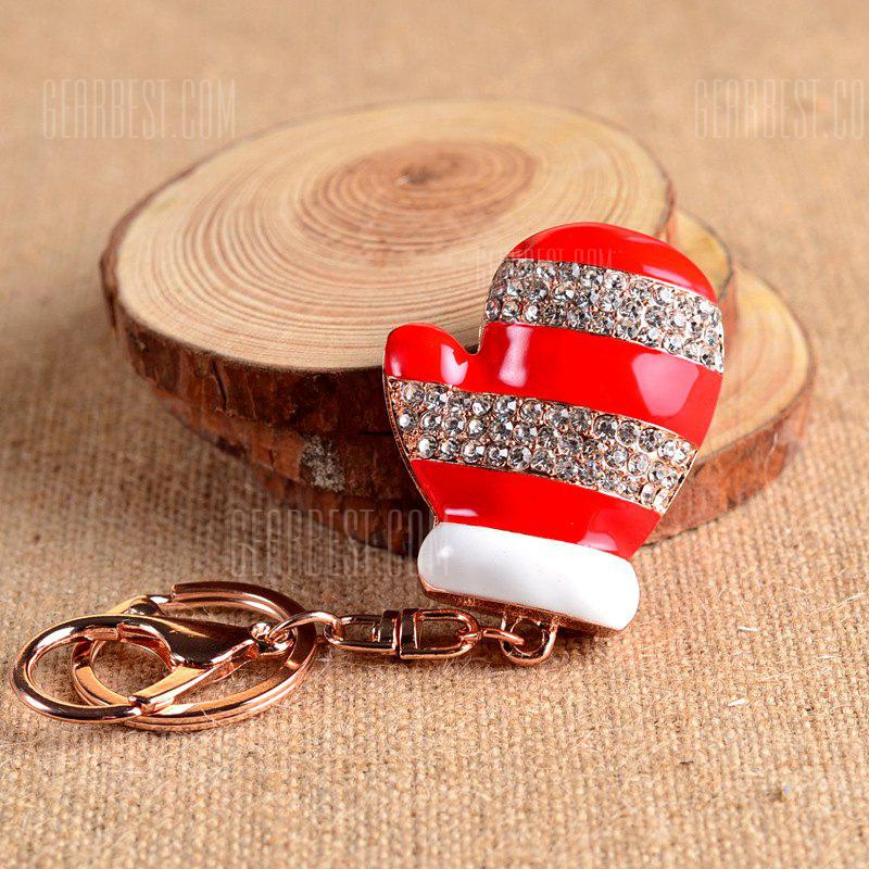 Beautiful Boutique Pendant Christmas Gloves Key Ring