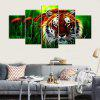 YSDAFEN Canvas Tiger Prints Hanging Wall Art 5PCS - COLORMIX