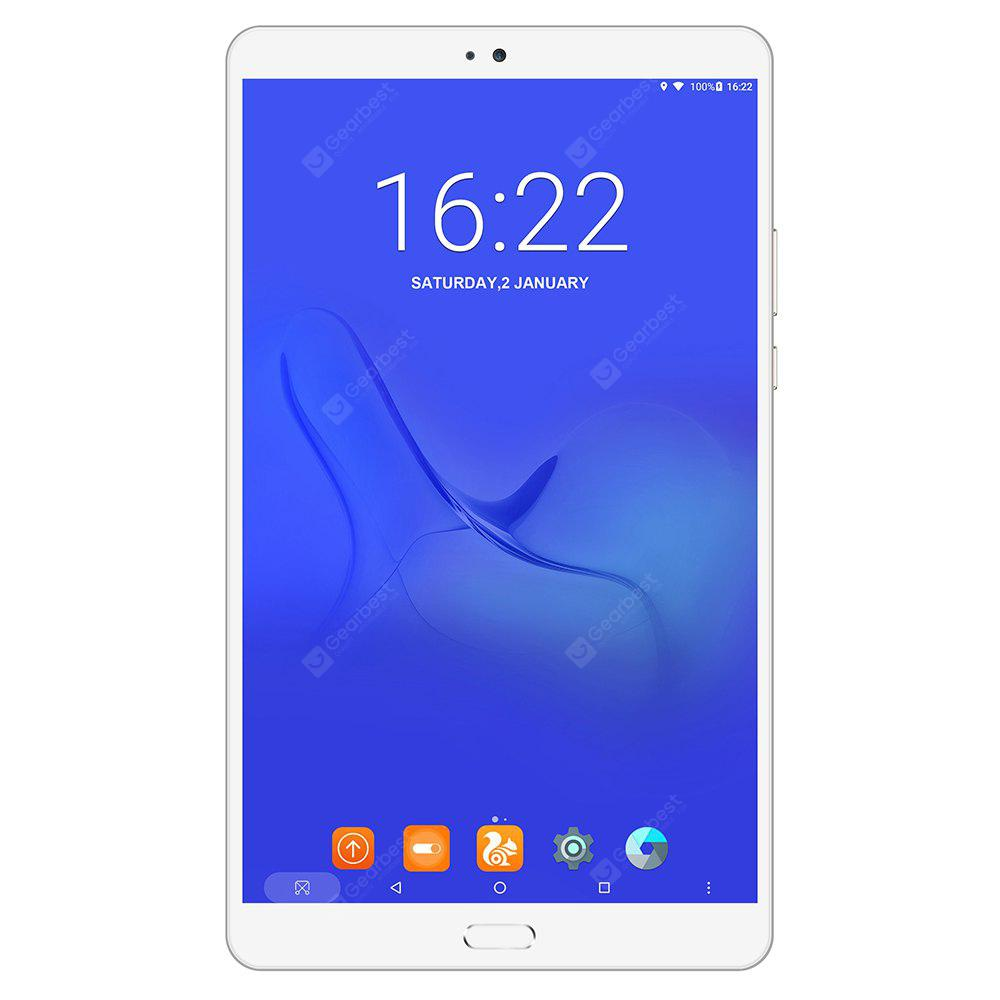 Teclast Master T8 Tablet PC Fingerprint Recognition - CHAMPAGNE GOLD Android 7.0 MTK8176 13.0MP Frontkamera
