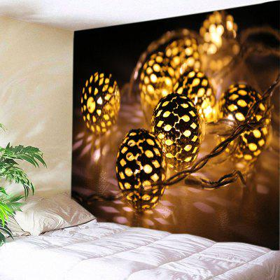Wall Hanging Art Christmas String Lights Print Tapestry