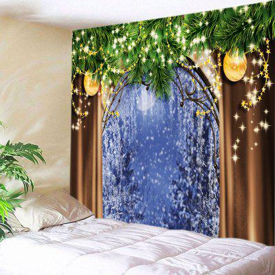Buy COLORMIX Wall Hanging Art Christmas Tree Window Print Tapestry for $13.85 in GearBest store