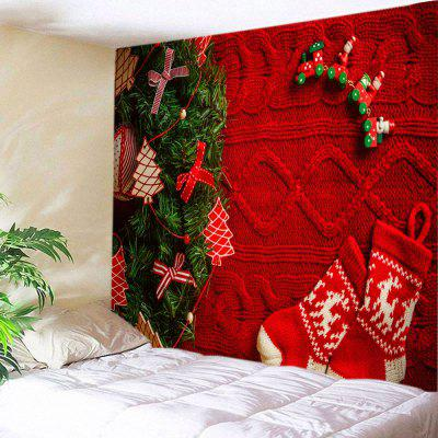 Wall Hanging Art Christmas Tree Stockings Print Tapestry
