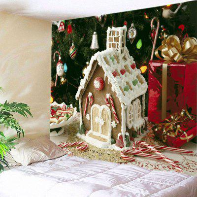 Wall Hanging Art Christmas Tree House Print Tapestry