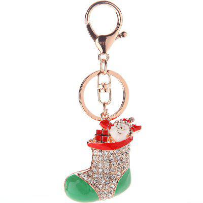 Beautiful Boutique Pendant Christmas Boot Key Ring