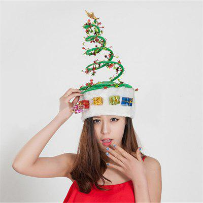 Novelty Christmas Tree Coil Spring HatMens Hats<br>Novelty Christmas Tree Coil Spring Hat<br><br>Contents: 1 x Hat<br>Gender: Unisex<br>Material: Non-Woven Fabric<br>Package size (L x W x H): 10.00 x 10.00 x 3.00 cm / 3.94 x 3.94 x 1.18 inches<br>Package weight: 0.1200 kg<br>Product weight: 0.1000 kg<br>Type: Christmas Tree Hat